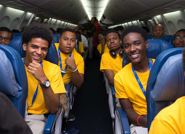 Inspired to aspire: Flight stirs career dreams for African-American youth